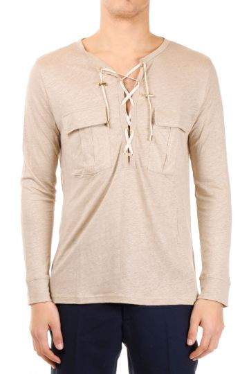 Long Sleeves Linen T-shirt