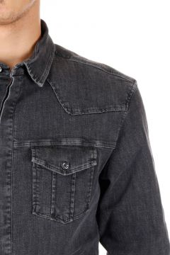 PIERRE BALMAIN Camicia in Denim stretch
