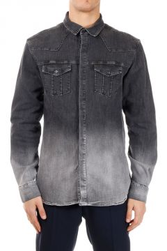 PIERRE BALMAIN Stretch Denim Shirt