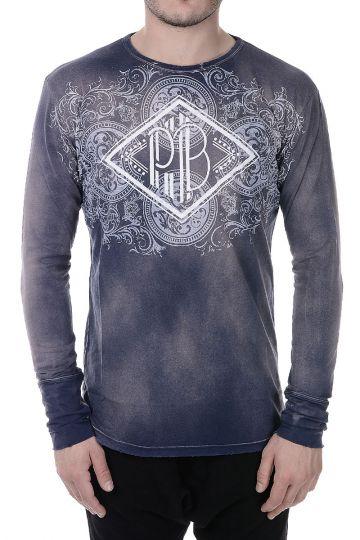 PIERRE BALMAIN T-shirt in Jersey di Cotone a Maniche Lunghe