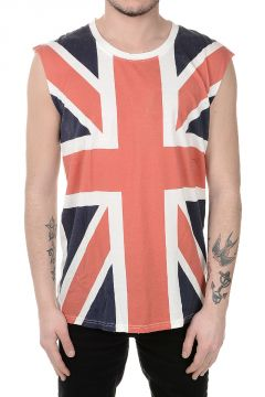 Sleeveless T-shirt With UK Printed