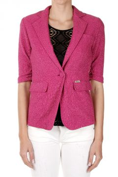 Cotton Mixed 3/4 Sleeved Blazer