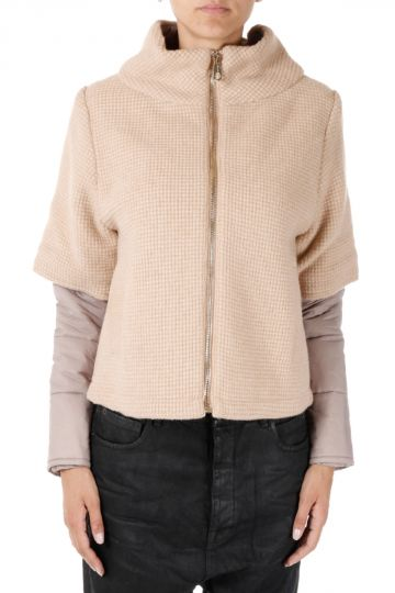 Down Coat with Detachable Sleeves
