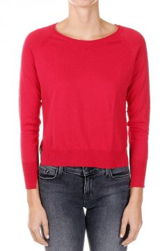 Cotton Silk Asymmetric cut Sweater