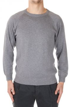 Silk and Cotton Knitted Sweatshirt