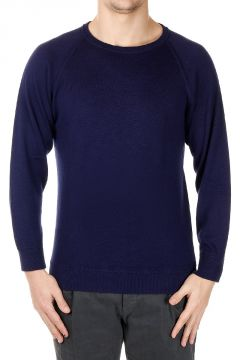 Mixed Cotton Crew Neck Sweater