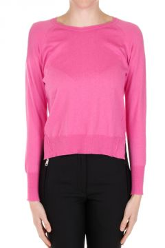 Cotton blend Asymmetric Cut Sweater