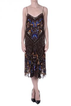 Embroidered Silk Dress