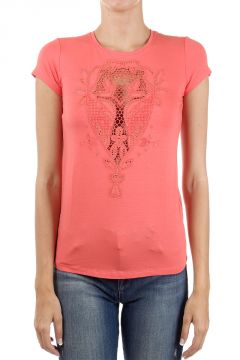 T-shirt con Strass Applicati