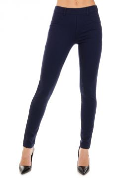 Leggings in Tessuto Stretch con Due Tasche