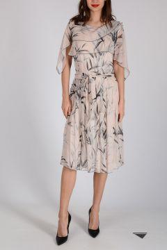 Bamboo Printed Silk Dress