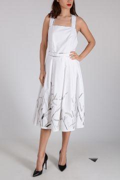 ANNA MOLINARI Cotton Embroidered Dress