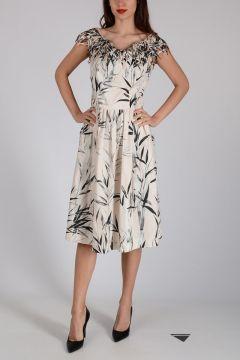 Stretch Cotton Sheath Dress