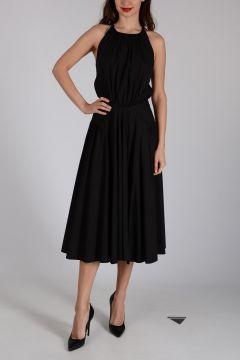 Mixed Cotton Sleeveless Backless Dress