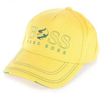 Cappello in Cotone fantasia bandiera brasile
