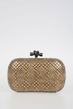 Ayers Leather Studded Clutch