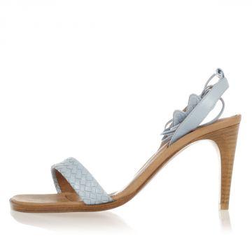 Sandalo in Pelle Tacco 9 cm