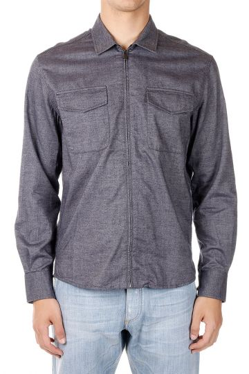 Camicia in Cotone con Zip