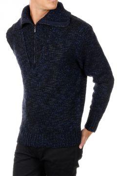 Pullover in Misto Lana con zip