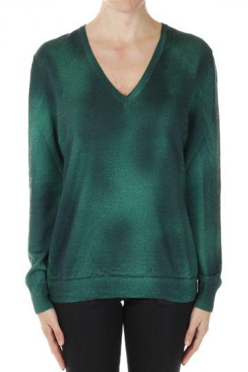Cashmere Spray Printed Sweater