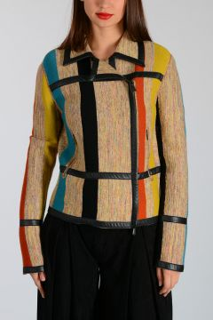 Multicolor Knitted Jacket