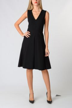 V neck Wool Dress