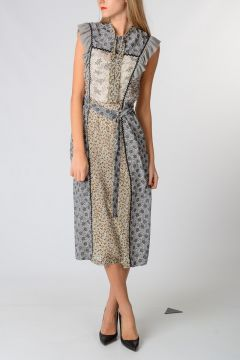 Printed Silk Shift Dress