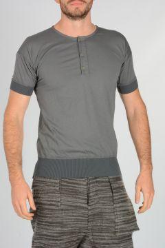 T-shirt in cotone con Dettagli in Lana