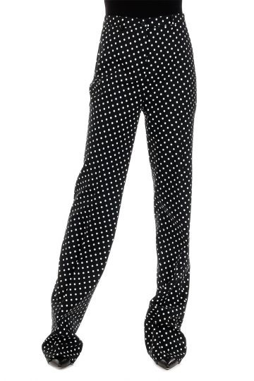 Wool Blend Pois Printed Pants
