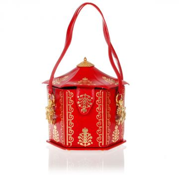 Mini Leather Shoulder Bag Pagoda