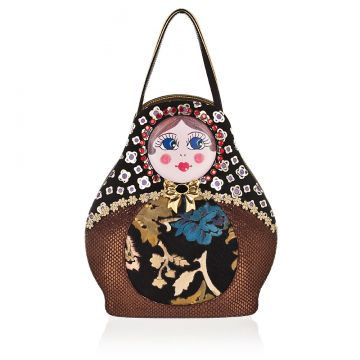 MATRIOSHKA Handbag in Genuine Leather