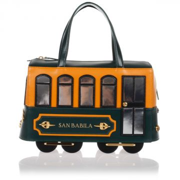 Leather mini Handbag TRAM