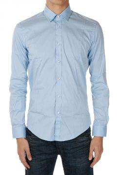 Camicia Slim Fit in Misto Cotone