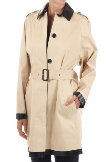Cotton trench with belt
