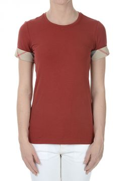 T-shirt in Cotone Stretch con Stampa Burberry
