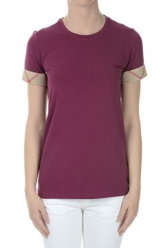 Burberry Print Stretch Cotton T-Shirt