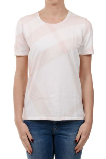 T-shirt in Cotone Stampa Burberry