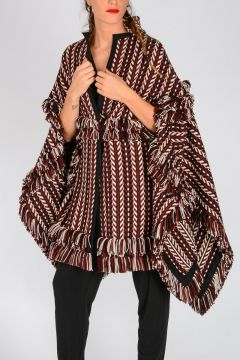Wool & Silk Knitted Poncho