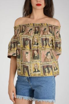 Cotton Faces Printed Top