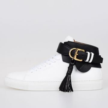 Leather 100MM TASSLE High Top Sneakers