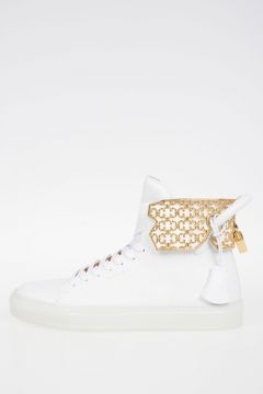 Leather 125MM CAGE High Top Sneakers