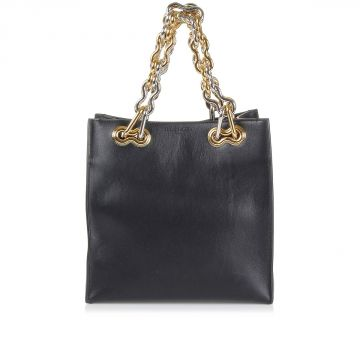 Leather HandBag with brass handle