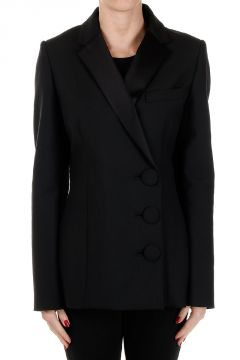 Mixed Virgin Single Breasted Wool Jacket