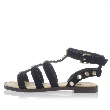 Leather Gold Tone Sandal
