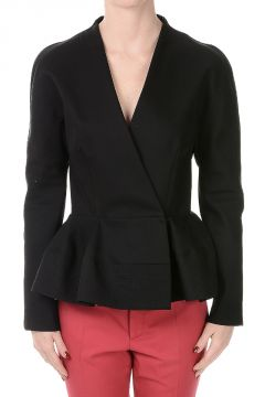 Single Breasted Cotton Blazer