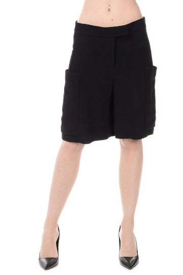 Pantaloni Shorts in Viscosa
