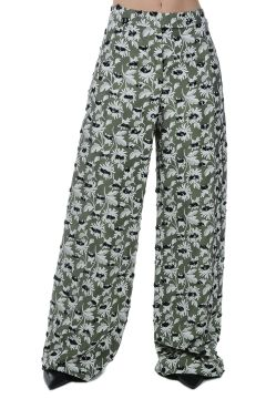 Floral Printed embroidery Pants