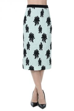 Ruched Stretch Silk Skirt