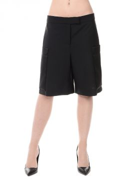 Pantaloni Shorts in Misto Lana Vergine