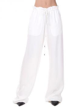 Pantaloni Crepe Craie